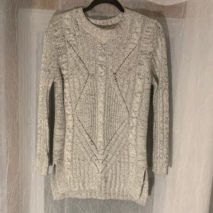 Bluenotes Gray Knit Front Design Sweater - Size M